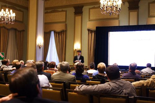 Thomas Parry at the Westin Poinsett Hotel introducing Linking The Upstate