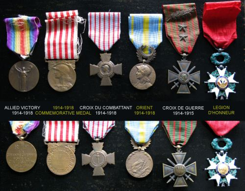 My grandfather's medals WWI